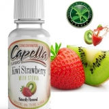 1,5ml Capella Concentrate - Kiwi Strawberry with Stevia ( Kiwi,Jahoda,Stevia )