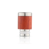 Drip Tip REDWOOD/STEEL STYLE - WOOD-X1