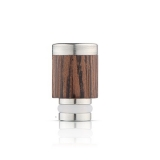 Drip Tip REDWOOD/STEEL STYLE - WOOD-X2