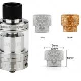 DRIP TIP 810 - Flower Resin Wide Bore by AMMIT 25 - Silver ( zlatý v detaile)