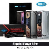 SIGELEI EVAYA 66W Stabilized Wood BOX MOD - GUN METAL EDITION (Silver v detaile)