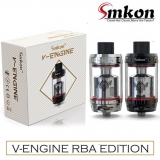 SMKON V-ENGINE RTA 25mm TANK ( BLACK a STEEL v detaile )