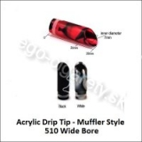 Acrylic Bore Wide Muffler Style 510 White