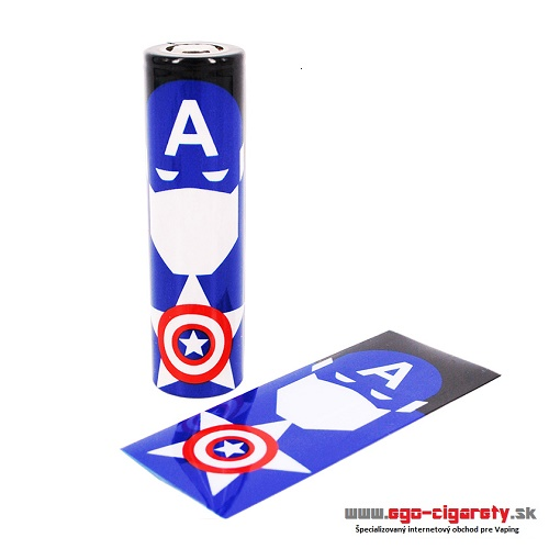 Battery WRAP Skin 18650 - CAPTAIN AMERICA