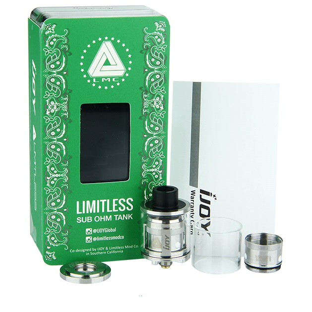 IJOY LIMITLESS SUB OHM TANK - 2ml STAINLESS STEEL
