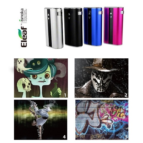 WRAP - ELEAF ISTICK 50W stickers - DESIGN #1