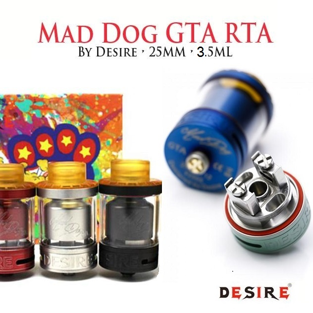 DESIRE MAD DOG GTA ATOMIZER - BLACK/STEEL v detaile
