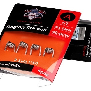 DEMON KILLER -  RAGING FIRE NI80 COIL EDITION - 4ks/bal ( TYP-A 0,27ohm )