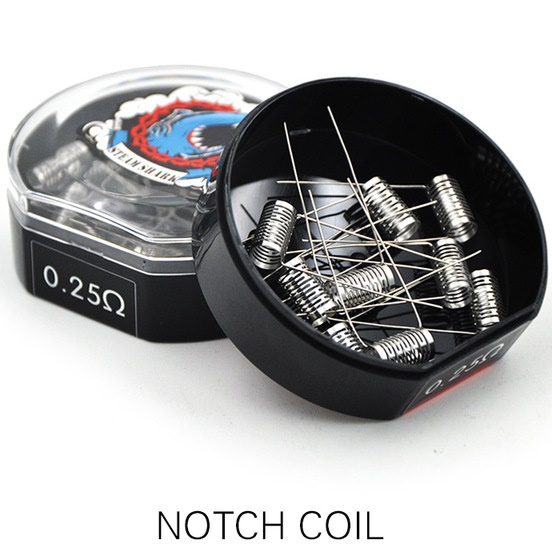 10ks VAPETHINK - NOTCH COIL SS316 - 0,25ohm