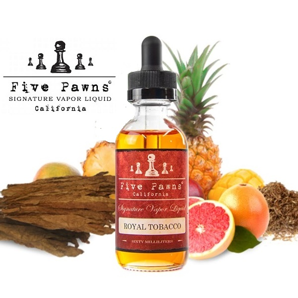 50/60ml FIVE PAWNS RED LINE - ROYAL TOBACCO (EXP:10/2020)