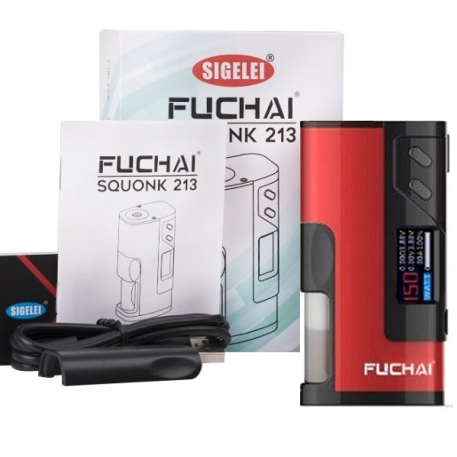 SIGELEI FUCHAI SQUONK 213 VW/TC BOX MOD 150W - RED EDITION