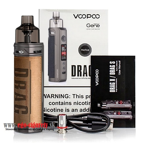 VOOPOO DRAG-X POD GENE CHIP 80W 18650 - RETRO EDITION
